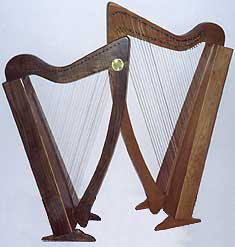 The Cambria Folk Harps Built from Kits 29C & 34C
