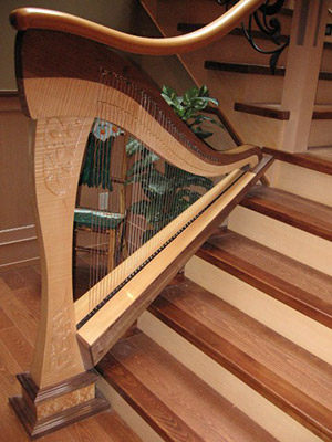 Harp strung with Markwood Strings
